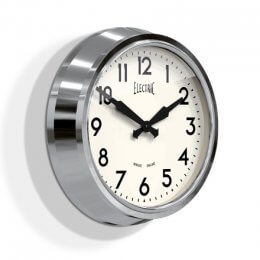 Newgate 50's Electric Clock - Chrome