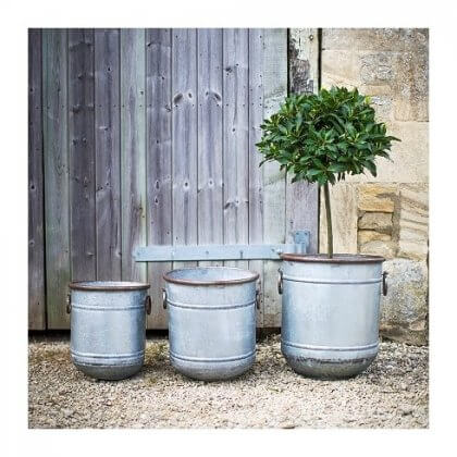 Galvanised Steel Planter - Set of 3