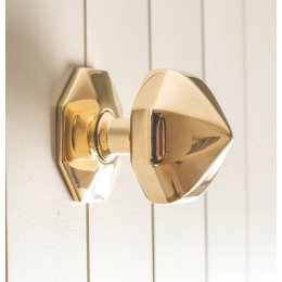 Pointed Octagonal Door Pull- Polished Brass
