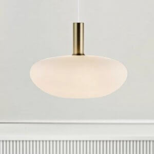 Opal Glass Pendant Light - Oval