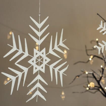 White Christmas Snow Flake - Large save 80%