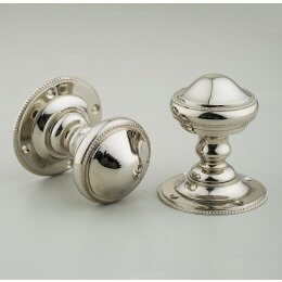 Beaded Edge Regency Door Knobs (Pair) - Nickel