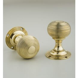 Beehive Empire Door Knobs (Pair) - Brass SAVE 10%