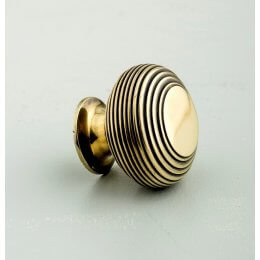 Beehive Large Cabinet Knob - Aged Brass SAVE 30%