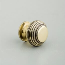Beehive Small Cabinet Knob - Aged Brass