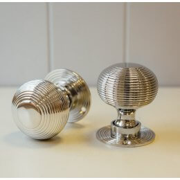 Beehive Door Knobs (Pair) - Nickel
