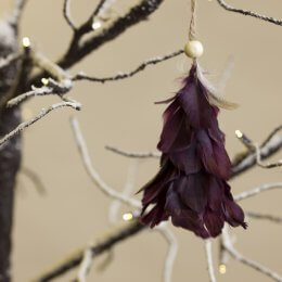 Feather Tree Decoration - Plum SAVE 30%