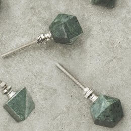 Green Marble Cabinet Knob - Set of Two