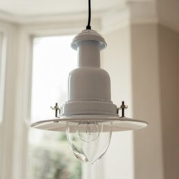 Fishing Pendant Light - White