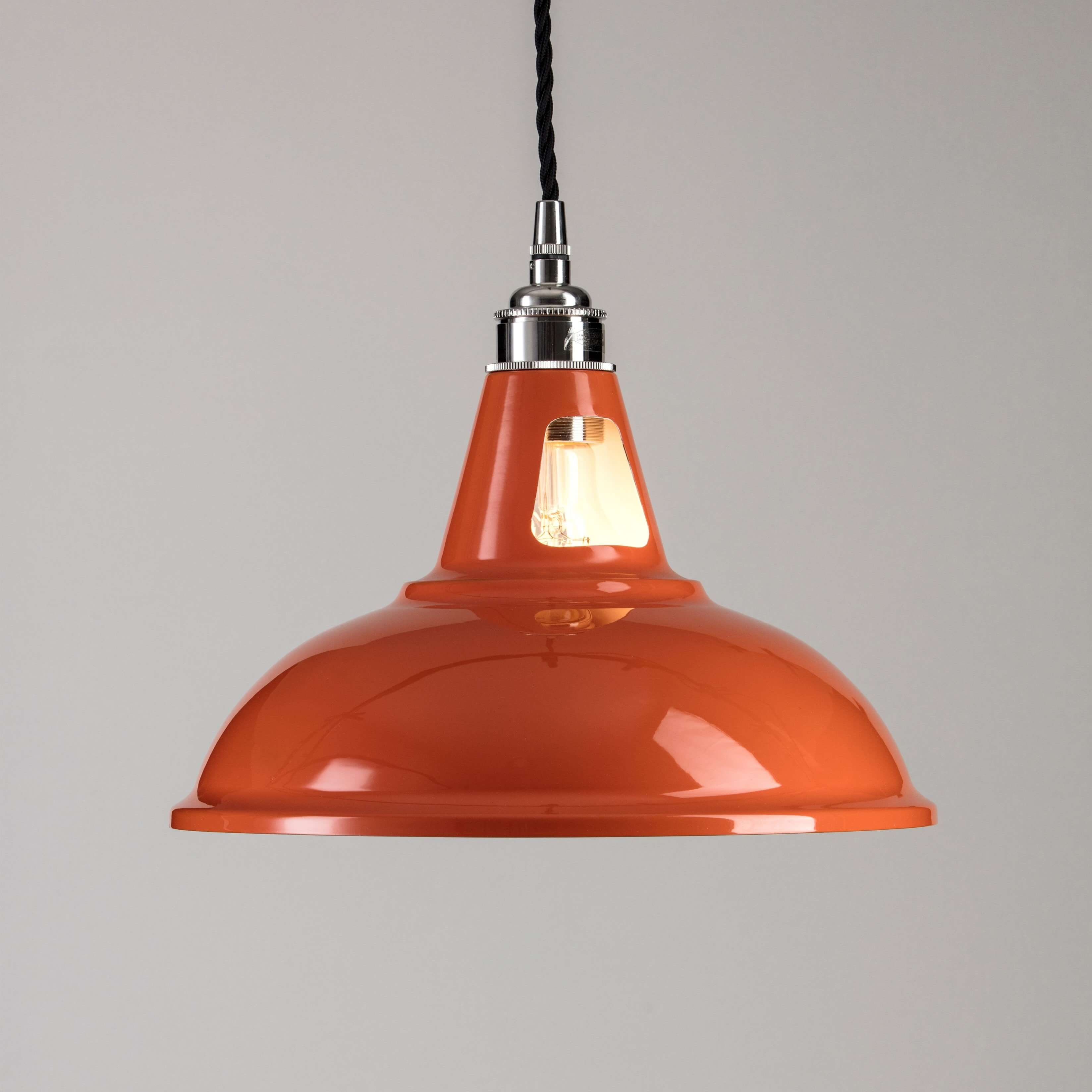Factory pendant light orange