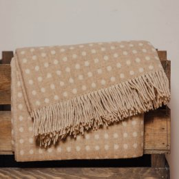 Natural Spot Throw - Lambswool save 40%