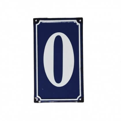 "French Style Metal Door Number ""0"" - save 50%"