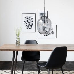 Grey Glass Pendant Light - save 15%