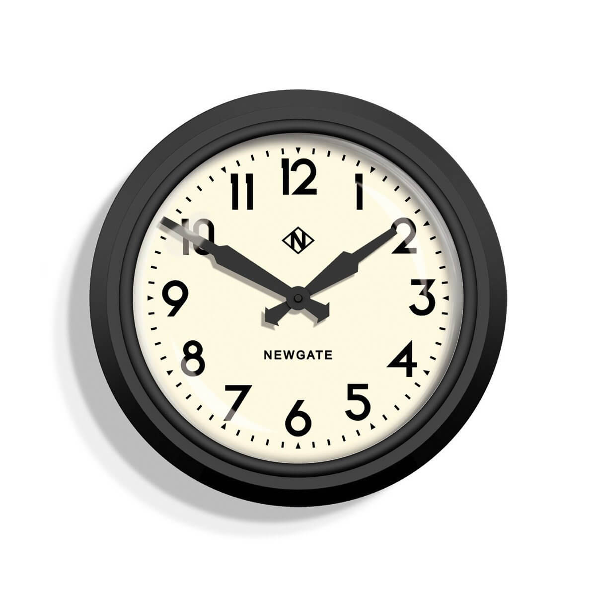 The 50's Electric Clock by Newgate - Matt Black save 30%