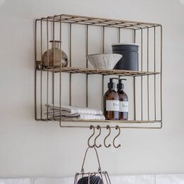 Wall Rack - Antique Brass