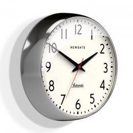 The Watford Clock by Newgate - Chrome save 30%