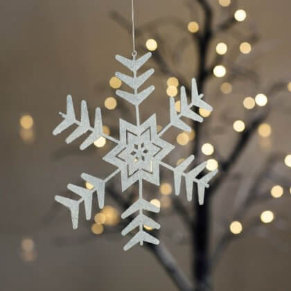 White Christmas Snow Flake - Medium save 80%