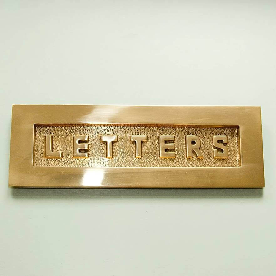 LETTERS Large Letterplate in Solid Brass - SAVE 20%