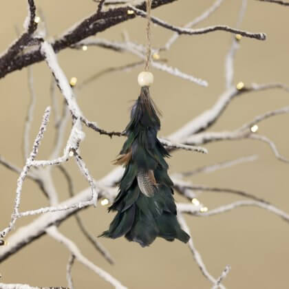 Feather Tree Decoration - Green save 70%