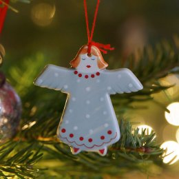Christmas Angel - Blue/White SAVE 50%