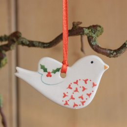 Christmas Dove Decoration - Heart SAVE 50%