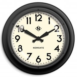 Giant Electric Clock by Newgate - Matt Black save 30%