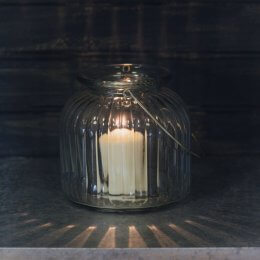 Cornbury Glass Candle Holder