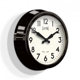 Newgate 50's Electric Clock - Black