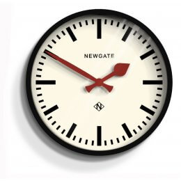 The Luggage Clock by Newgate - Gloss Black