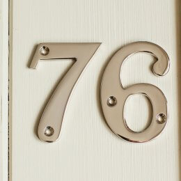 House Number '7' - Nickel