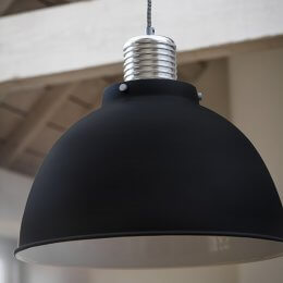 The Loft Pendant Light - Off Black (Large)