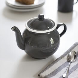 Enamel Tea Pot in Charcoal