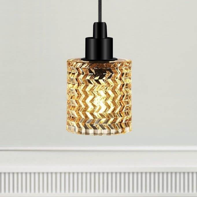 The Crystal Pendant Light - Amber Glass