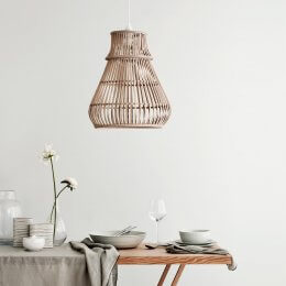 Bamboo Pendant Light Shade - Zamba