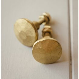 Cabinet Knob - Hammered Brass
