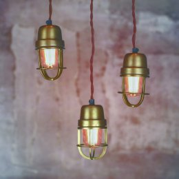 Brass Cage Pendant Light