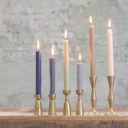 Brushed Brass Candlesticks - save 30%