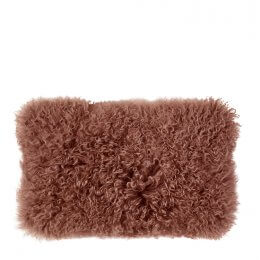 Tibetan Sheepskin Cushion - Marsala save 70%