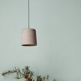 Concrete Pendant Light - Blush