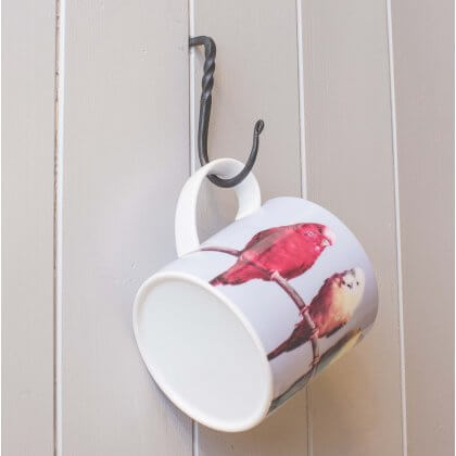 Cup Hook - Black Waxed SAVE 20%