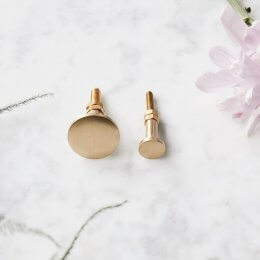 Cabinet Knob - Smooth Brass save 20%