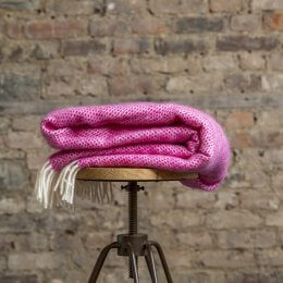 Cerise Pink Pure New Wool Throw