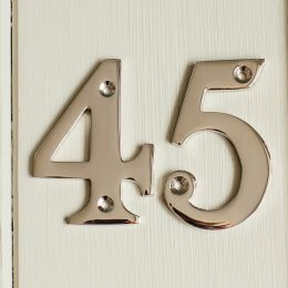 House Number '5' - Nickel