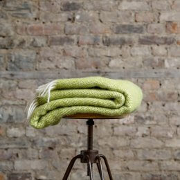 Kiwi Green Pure New Wool Throw SAVE 15%