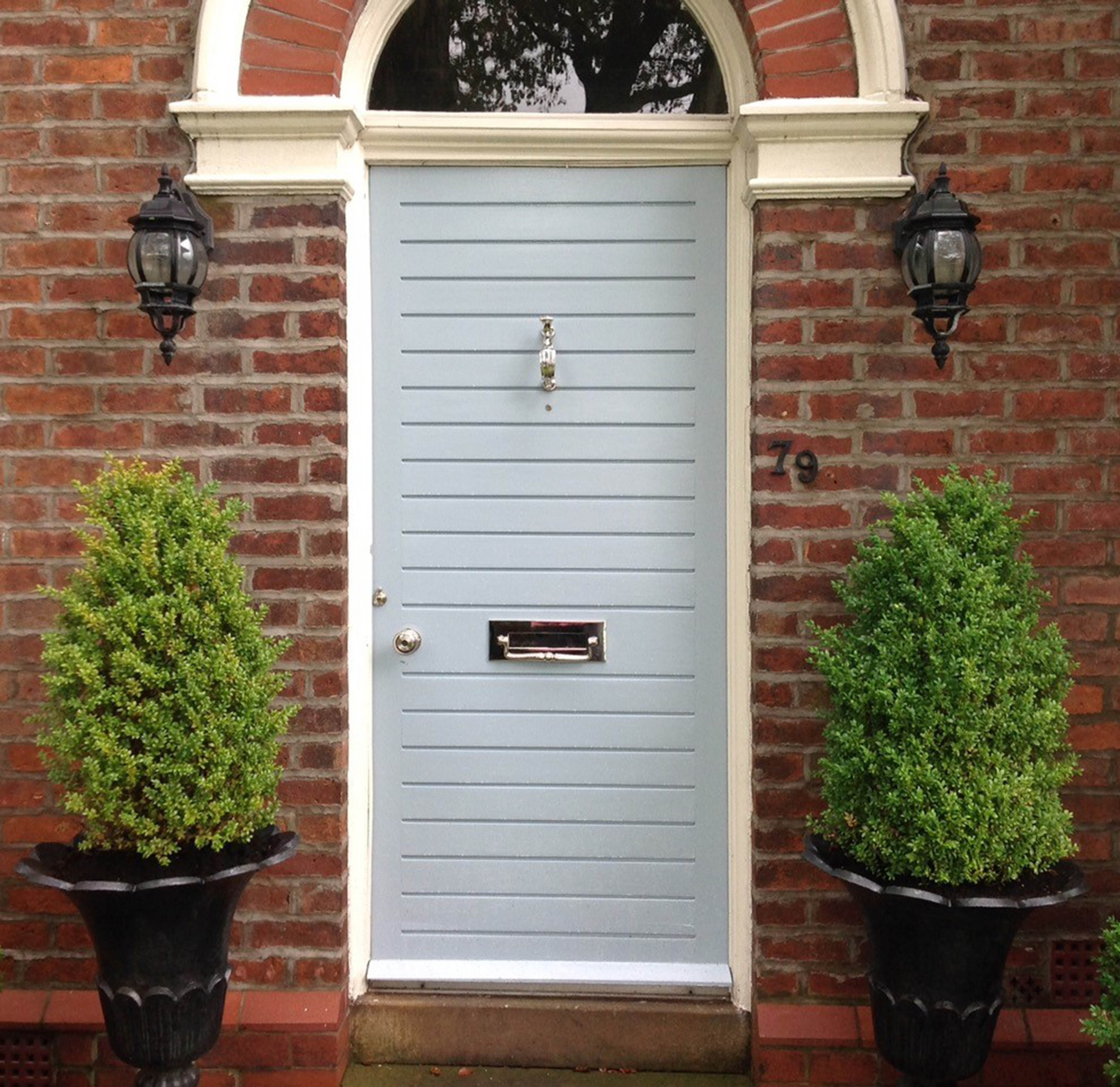 This door looks stunning with our Nickel Door Furniture