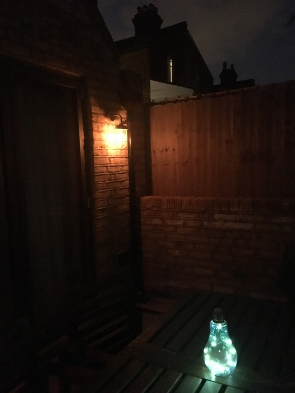 Lighting up a London garden