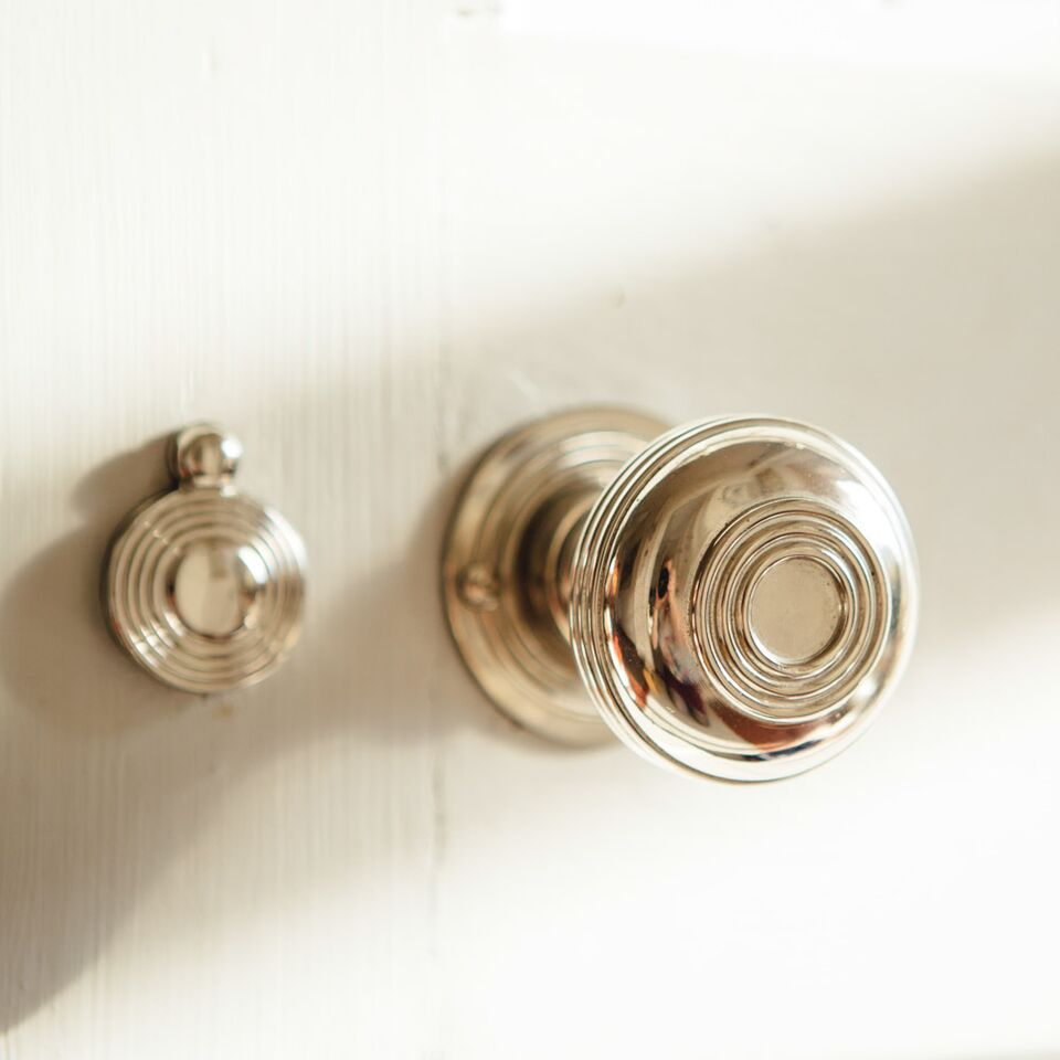 Nickel Regency Bloxwich doorknobs....