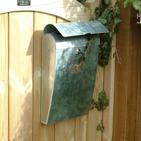 Galvanised post box