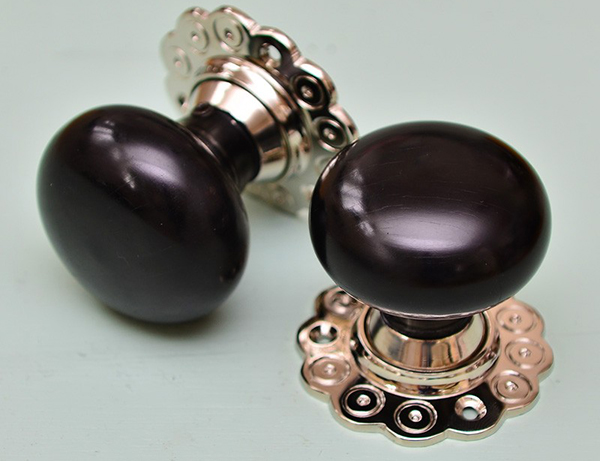 Ebony Bun Door Knobs