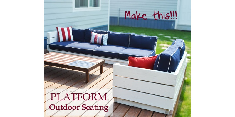 Ana White platform outdoor seating